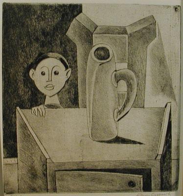 Kind mit Krug  1955  22 x 23