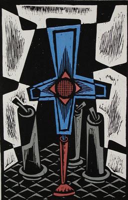 Stillleben mit Kreuz  1986  39 x 60