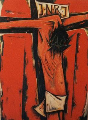Gekreuzigter in rot  1966    114 x 160