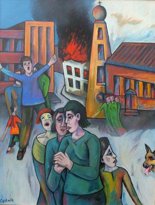 Brand der Synagoge II   (9.11.1938 )  2007  85 x 110