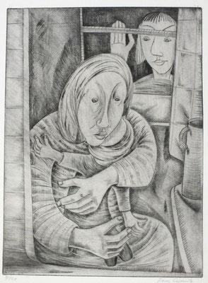 Ängstliches Kind  1960  30 x 40                 ( 4 )