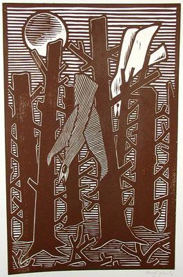 Toter Walt mit Vögel  1983  39 x 60