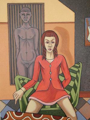 Selbstbewusstes Mädchen  2001  82 x 110