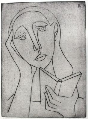 Lesende  1957  29 x 40                           ( 4 )