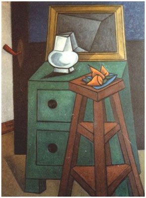 Stillleben mit grüner Kommode  1956     85 x 125