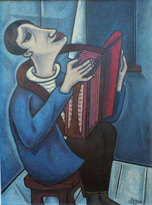 Harmonika Spieler  1960    83 x 111