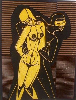 Frauenraub I  1981  60 x 78