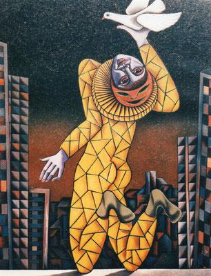Clown  1981    90 x 120