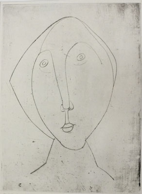 Konturzeichnung  1956  23,5 x 32