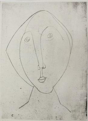 Konturzeichnung  1956  23,5 x 32                  ( 2 )