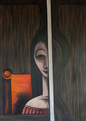 Mädchen am Fenster    83 x 115