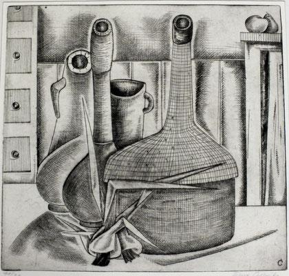Stillleben mit Flaschen  1960  31 x 30         ( 5 )