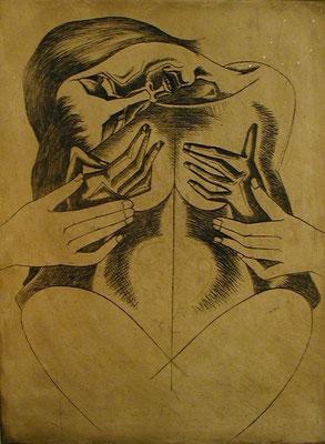 Anfall  1977  30 x 39,5 ( Ätz )     ( 1 )