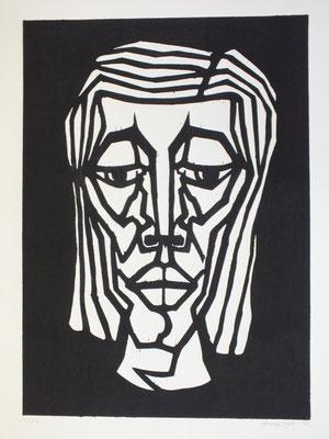 Frauenkopf  1983  40 x 55