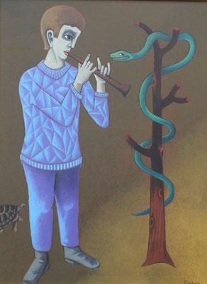 Junge mit Schlange  1992  82 x 110