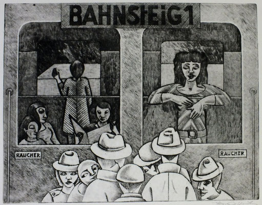 Bahnsteig I  1976  38 x 29,5