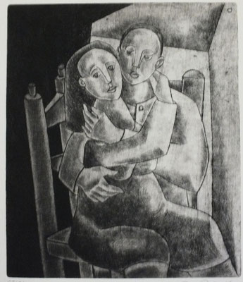 Sitzendes Paar  1955  20,5 x 24,5