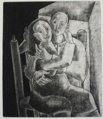 Sitzendes Paar  1955  20,5 x 24,5             ( 4 )