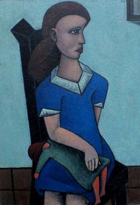 Mädchen mit Puppe  1955  76 x 108