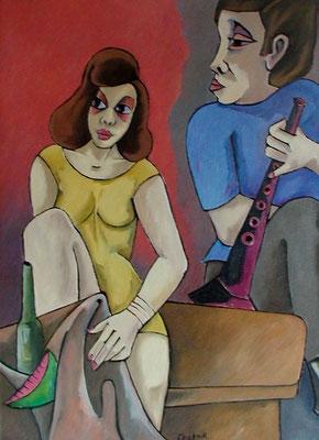 Paar mit Klarinette  2004  70 x 95