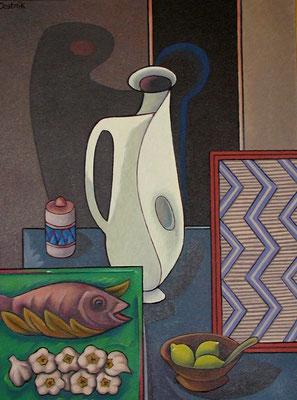 Großes Stillleben mit weißen Krug  1996  85 x 115