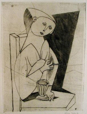 Im Cafe  1953  23,5 x 31,5