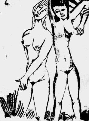 Freundinnen  1973    29,5 x 40