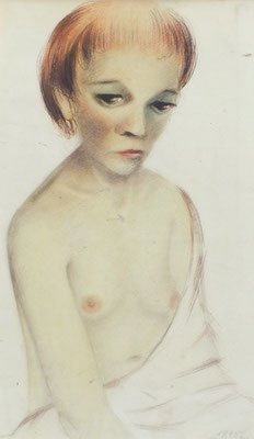 Junges Mädchen  1948  27 x 45 ( Aquarell )