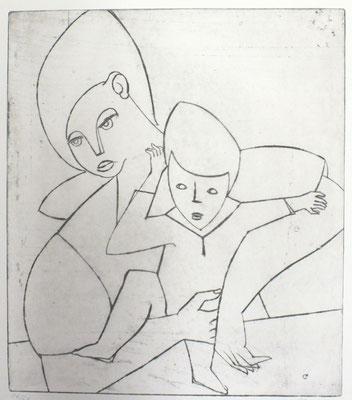 Mutter mit Kind  1956  34 x 40
