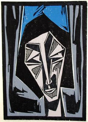 Mädchen mit blauer Kappe  1966  45 x 60