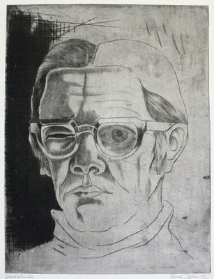 Selbstbildnis  1980  30 x 39,5