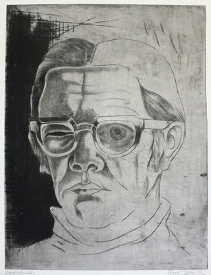 Selbstbildnis  1980  30 x 39,5      ( 1 )