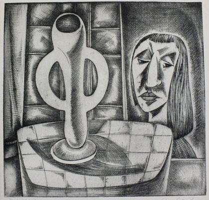 Blick ins Fenster  1960  30,5 x 30   ( 1 )