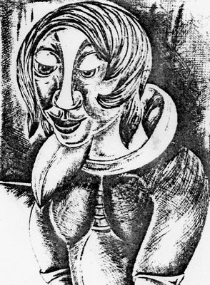 Frauenporträt  1960    30 x 40