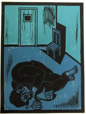 Liegender ( Gefängnis )  1986  45 x 60
