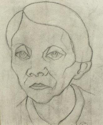 Tante Mina  1949  20,5 x 24,5 ( Blei )