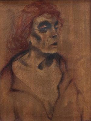 Studie ( Frau Voges )  1948  32 x 40 ( Aquarell )