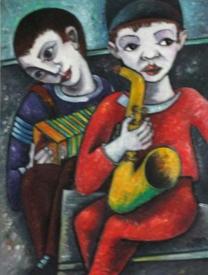 Junge Musiker  1985    66 x 85