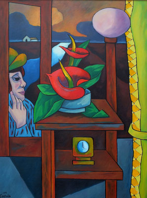 Stillleben mit Blume  2004  80 x 105