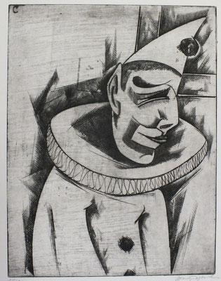 Clown  1964  30 x 39