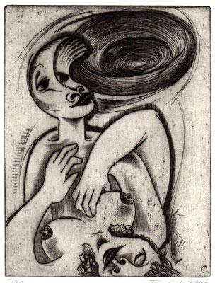 Liebespaar  1968  15 x 19,5         ( 8 )