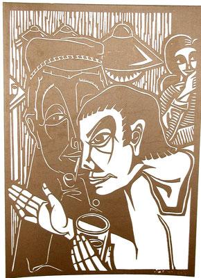 In der Taverne  1984  40 x 55