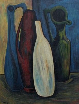 Stillleben mit Vasen  1962  68 x 87