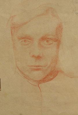 Porträt  1947  18,5 x 24,5 ( Rötel )