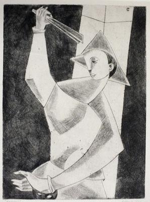 Harlekin I  1955  23,3 x 31           Kahe Sammlung