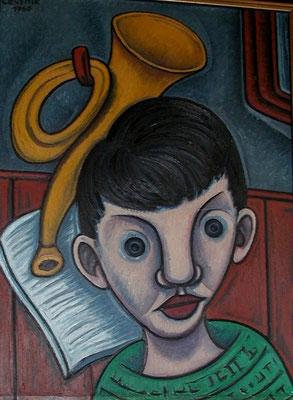 Junge mit Trompete  1960  57 x 78