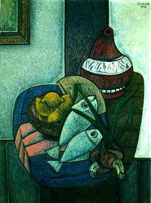 Stillleben mit Fische  1959    75 x 103