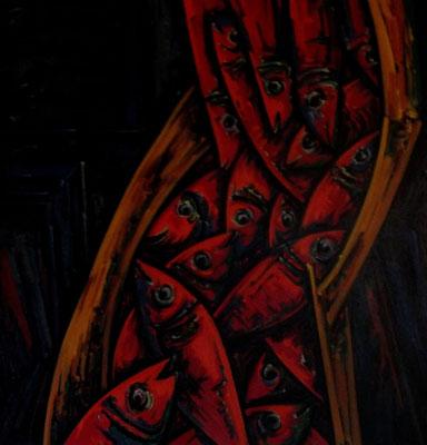 Rote Fische I  1964  87 x 90