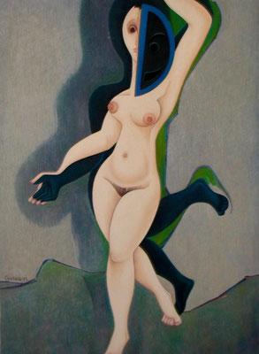Tänzerin mit Maske  1973  115 x 157