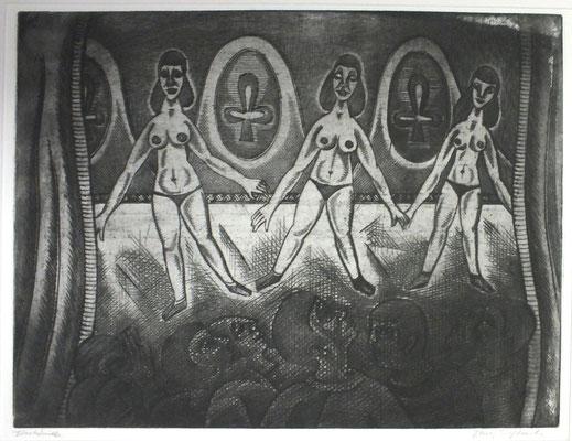 Kabarett  1967  39,5 x 30                             ( 2 )